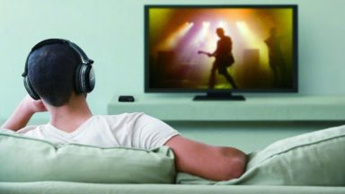 listen to TV with headphone
